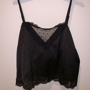 NWOT Sheer V Brandy Melville Silk Top